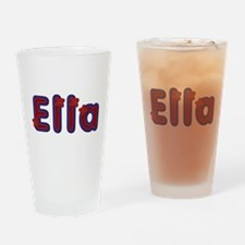 Ella Red Caps Drinking Glass