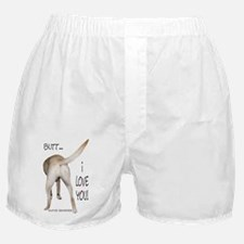 Yellow Lab I Love You Boxer Shorts