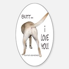 Yellow Lab I Love You Oval Decal