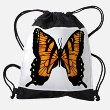 Unique Pit bull butterfly Drawstring Bag