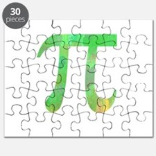 PI IRRATIONAL NUMBER ABSTRACT GREEN DESIGN Puzzle