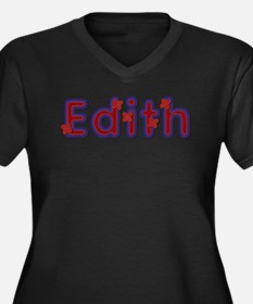 Edith Red Caps Plus Size T-Shirt