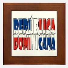 Word Art Republica Dominicana Framed Tile