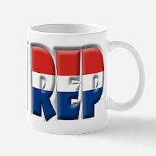 Word Art Flag Dom Rep  Mug