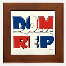 Word Art Flag Dom Rep  Framed Tile