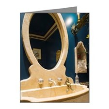 Unique Vanity Sink and Mirro Note Cards (Pk of 20)