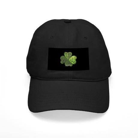 Concentric 4 Leaf Clover Black Cap