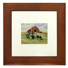 Cute Tractors Framed Tile