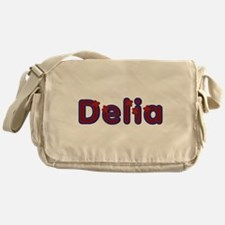 Delia Red Caps Messenger Bag
