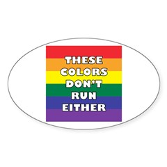 These Colors Oval Sticker