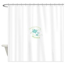 Worlds Most Outstanding Mama blue flowers Shower C
