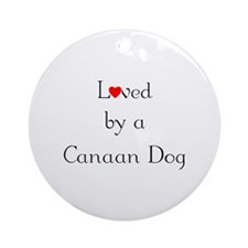 Loved by a Canaan Dog Ornament (Round)