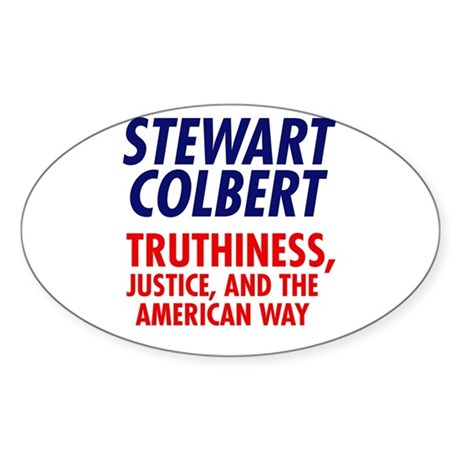 Stewart Colbert 08 Oval Sticker