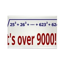 It's over 9000! Rectangle Magnet