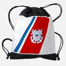 2-USCG-Racing-Stripe.png Drawstring Bag