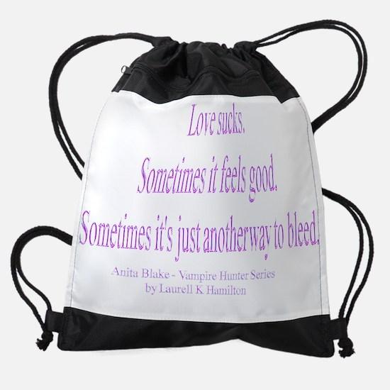 LoveSucksTrans.png Drawstring Bag