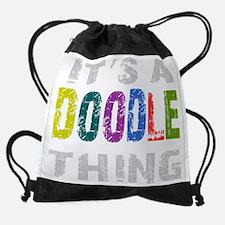 labradoodlething_black.png Drawstring Bag