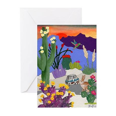 Desert Oasis Greeting Cards