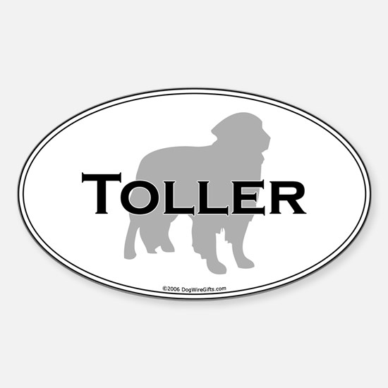 Toller Oval Decal