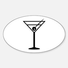 Martini Drink Icon Oval Decal