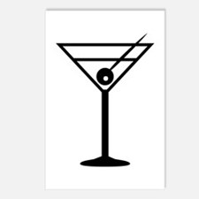 Martini Drink Icon Postcards (Package of 8)