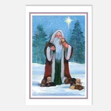 Santa with Labs Holiday Postcards (Package of 8)