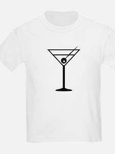 Martini Drink Icon Kids T-Shirt