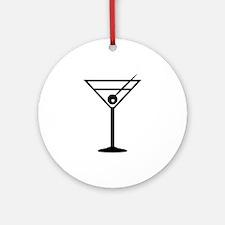 Martini Drink Icon Ornament (Round)