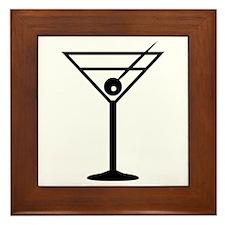 Martini Drink Icon Framed Tile