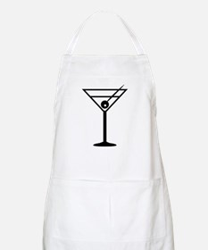 Martini Drink Icon BBQ Apron