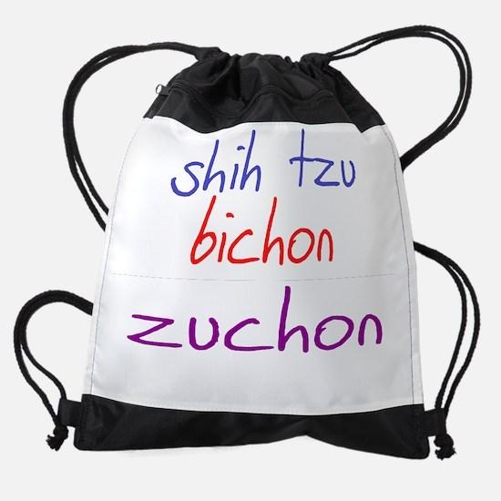 zuchon_black.png Drawstring Bag