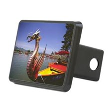 Dragon boat in a lake, Mif Hitch Cover