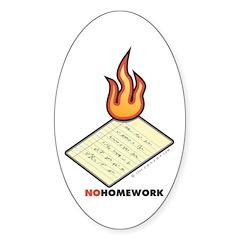 No Homework Decal