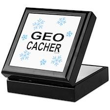 Snow Geocacher Keepsake Box