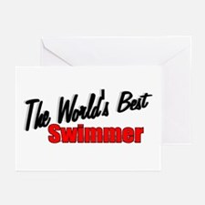 """The World's Best Swimmer"" Greeting Cards (Package"