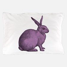 Purple Bunny Rabbit Pillow Case