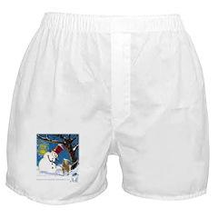 Snowman Unchains Dog Boxer Shorts