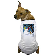Snowman Unchains Dog Dog T-Shirt