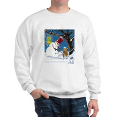 Snowman Unchains Dog Sweatshirt