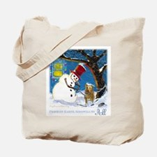 Snowman Unchains Dog Tote Bag