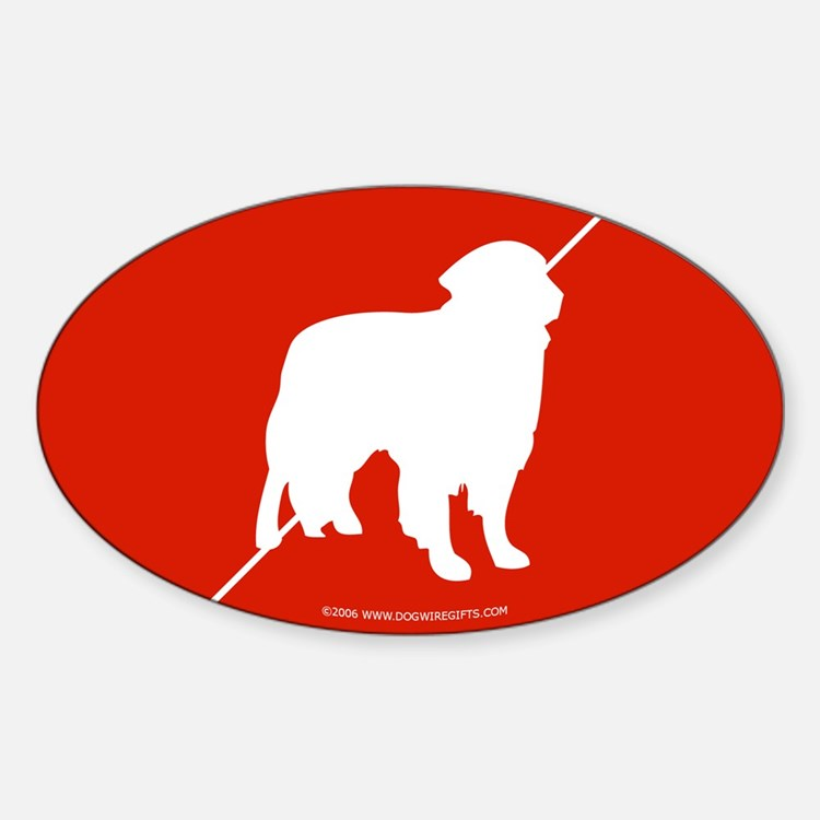 Canadian Flag Toller Oval Decal