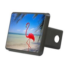 Flamingo on a beach Hitch Cover