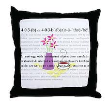 403b Defined Throw Pillow