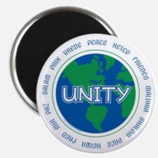 Unique One spirit world peace on earth unity Magnet