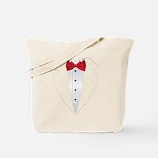 Tuxedo (red) Tote Bag