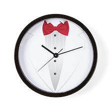 Tuxedo (red) Wall Clock