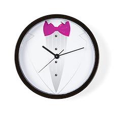 Tuxedo (pink) Wall Clock