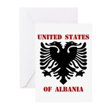 United States of Albania Greeting Cards (Package o