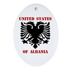 United States of Albania Oval Ornament