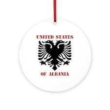 United States of Albania Ornament (Round)